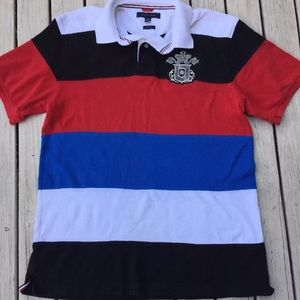 Tommy Hilfiger Mens XL polo shirt color block